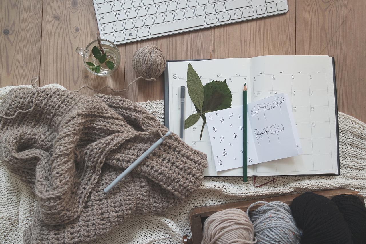 編み物体験画像