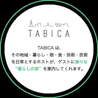 """TABICAは、その地域・暮らし・畑・食・芸術・技術を日常とするホストが、ゲストに様々な""""暮らしの旅""""を案内してくれます。"""