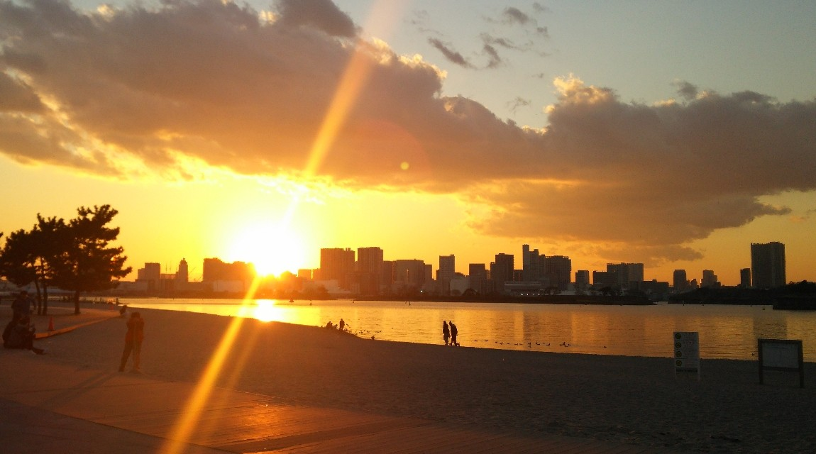 有明の夕日