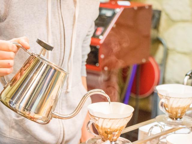 カフェでのコーヒータイム