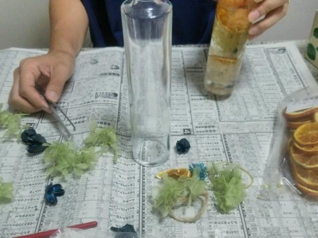 ハーバリウム作り