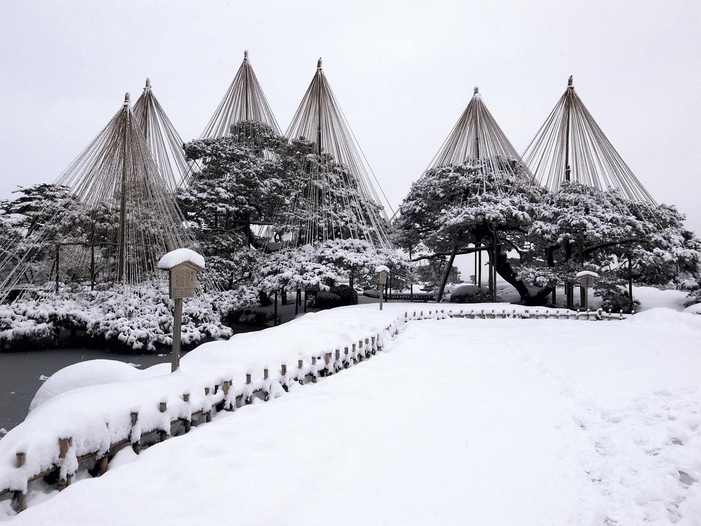金沢の冬の風物詩!兼六園の雪吊りを見よう!